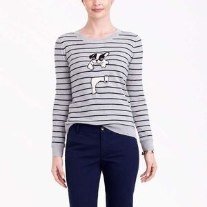 J. Crew French Bulldog Teddie Sweater